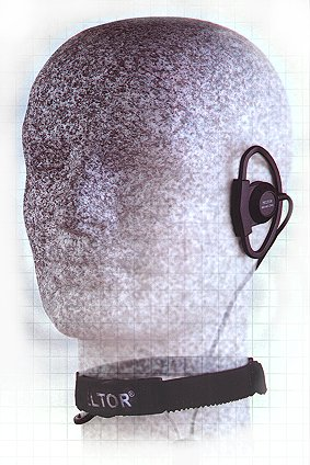Throat microphone with earpiece